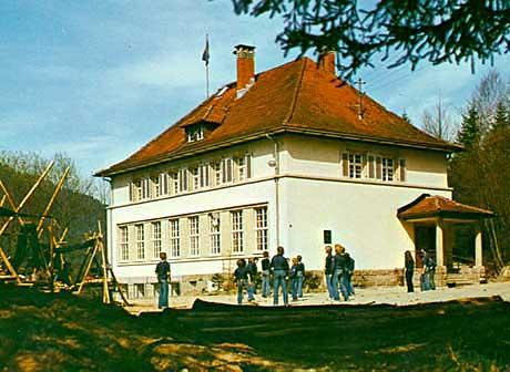 Das Pfadfinderzentrum in den 1980ern